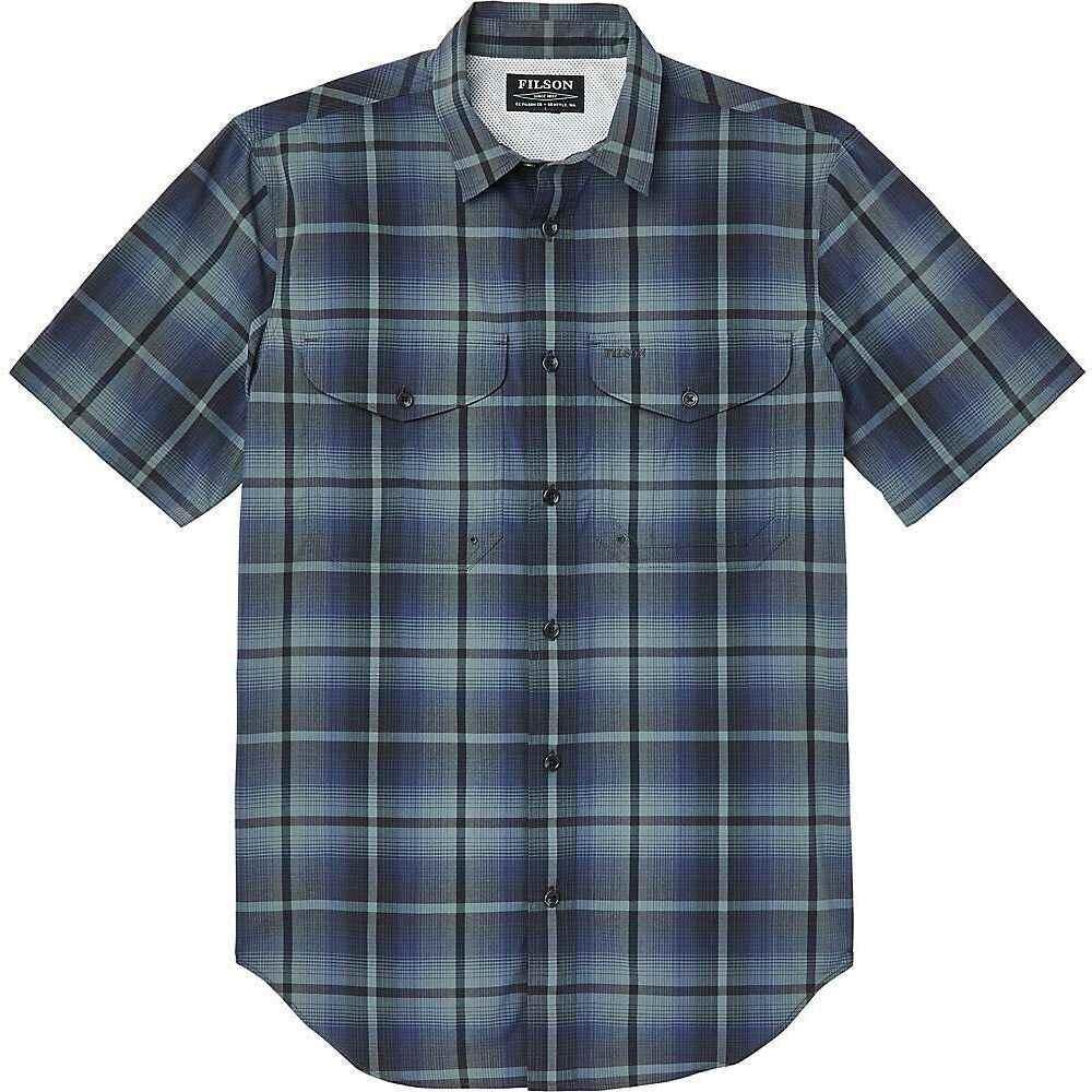 フィルソン Filson メンズ 半袖シャツ トップス【Twin Lakes Short Sleeve Sport Shirt】Navy/Grey Plaid