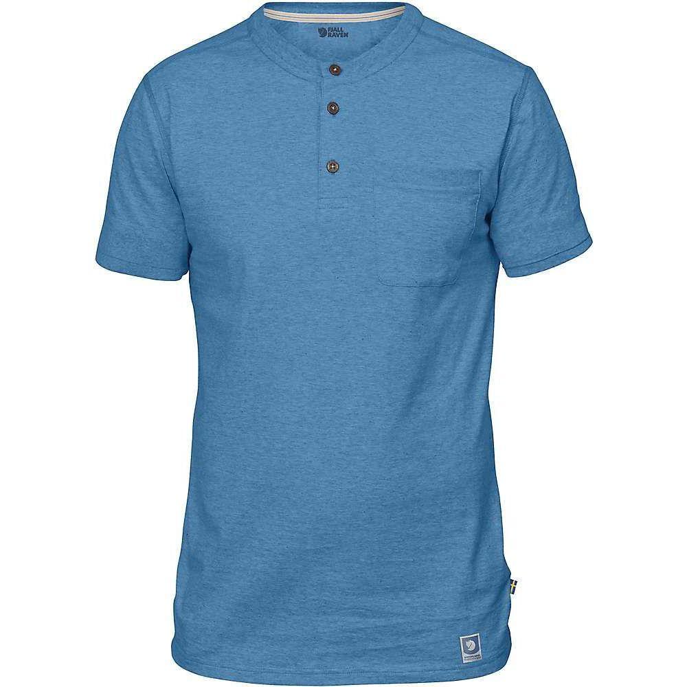 フェールラーベン Fjallraven メンズ 半袖シャツ トップス【Greenland Buttoned SS Shirt】Azure Blue