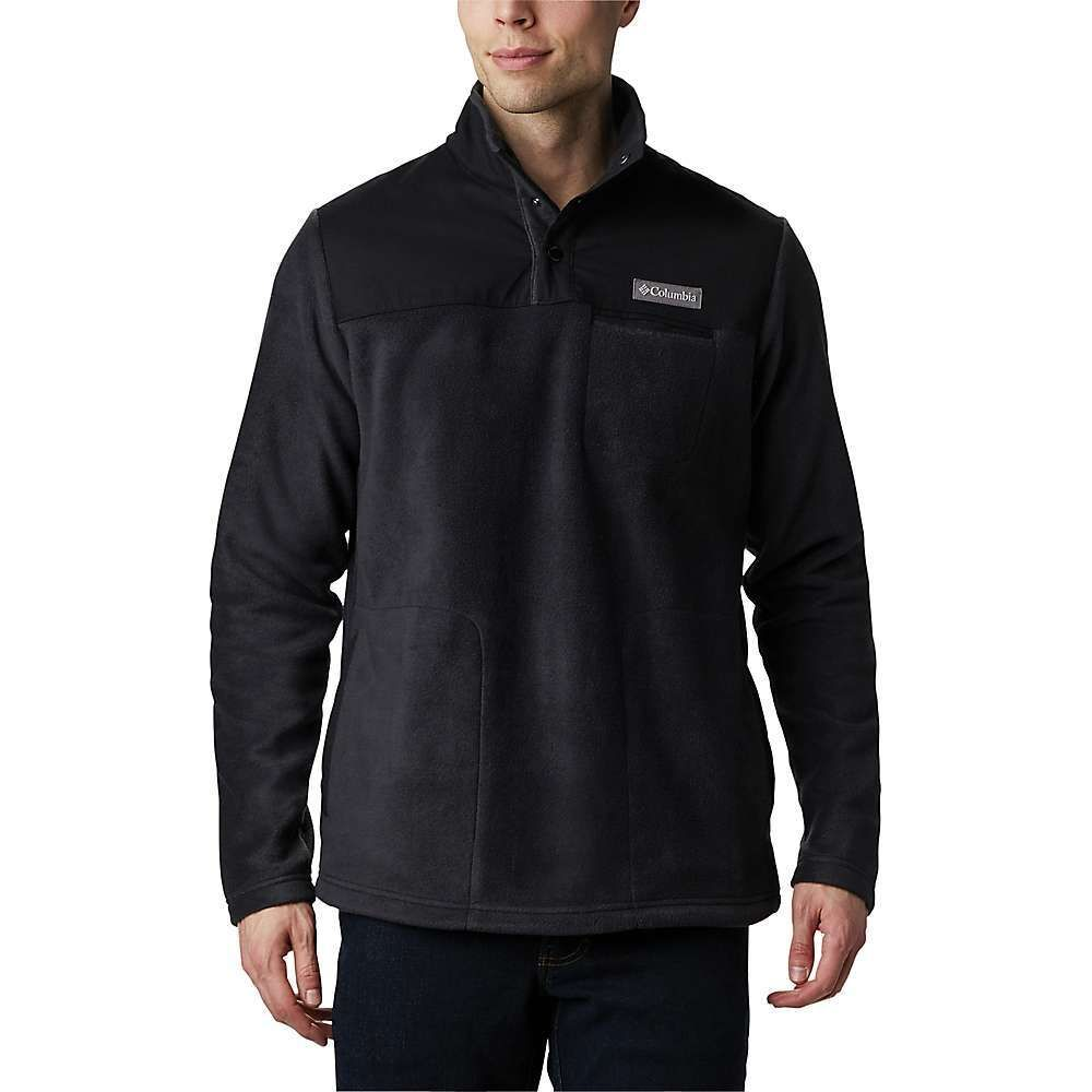 コロンビア Columbia メンズ フリース トップス【Cottonwood Park Half Snap Jacket】Black