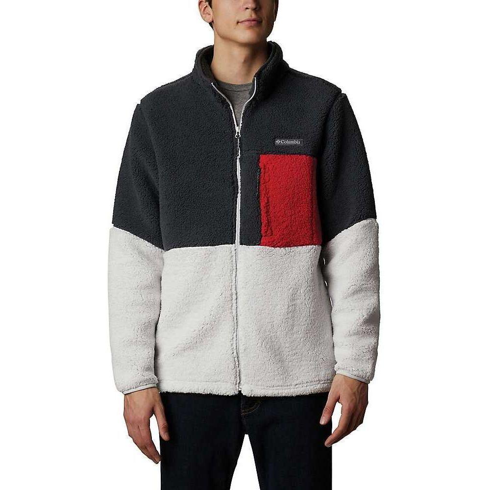 コロンビア Columbia メンズ フリース トップス【Mountainside Heavyweight Fleece Jacket】Shark/Nimbus Grey/Mountain Red