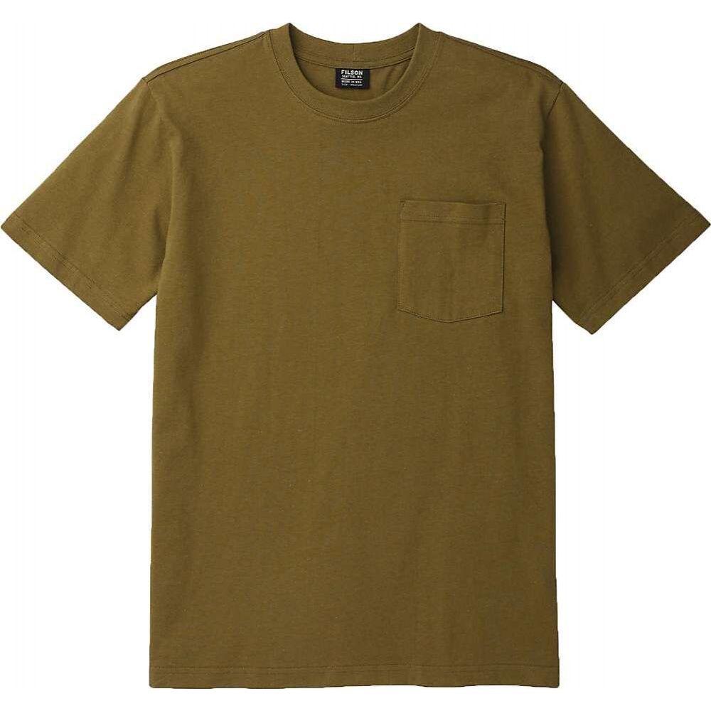 フィルソン Filson メンズ Tシャツ トップス【Outfitter Solid One-Pocket SS T-Shirt】Olive Drab