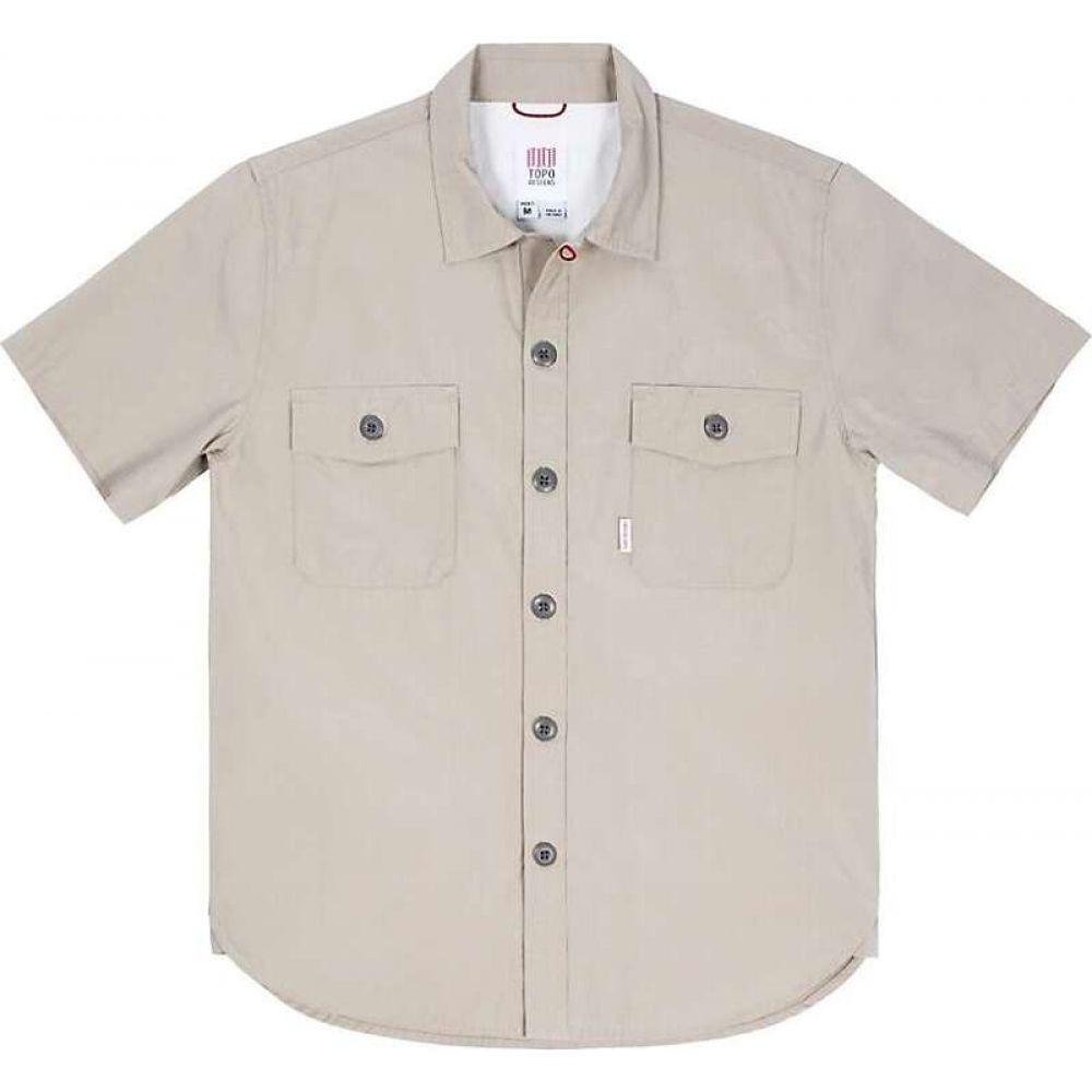 トポ デザイン Topo Designs メンズ 半袖シャツ トップス【Short Sleeve Field Shirt】Warm Grey