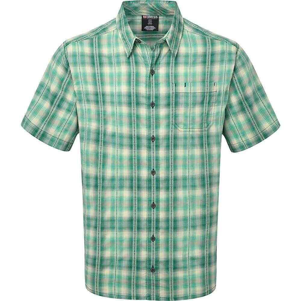 シェルパ Sherpa メンズ 半袖シャツ トップス【Jhapa Shirt】Khola Green