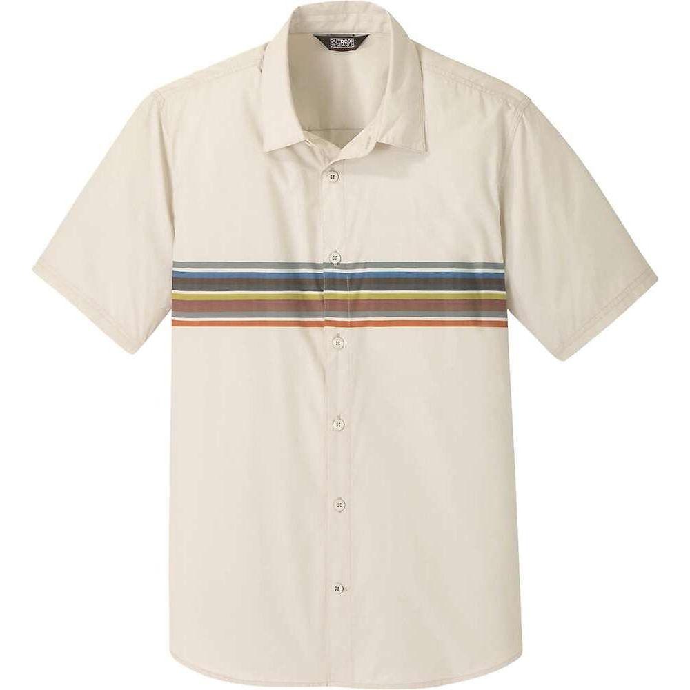 アウトドアリサーチ Outdoor Research メンズ 半袖シャツ トップス【Strata SS Shirt】Sand Stripe