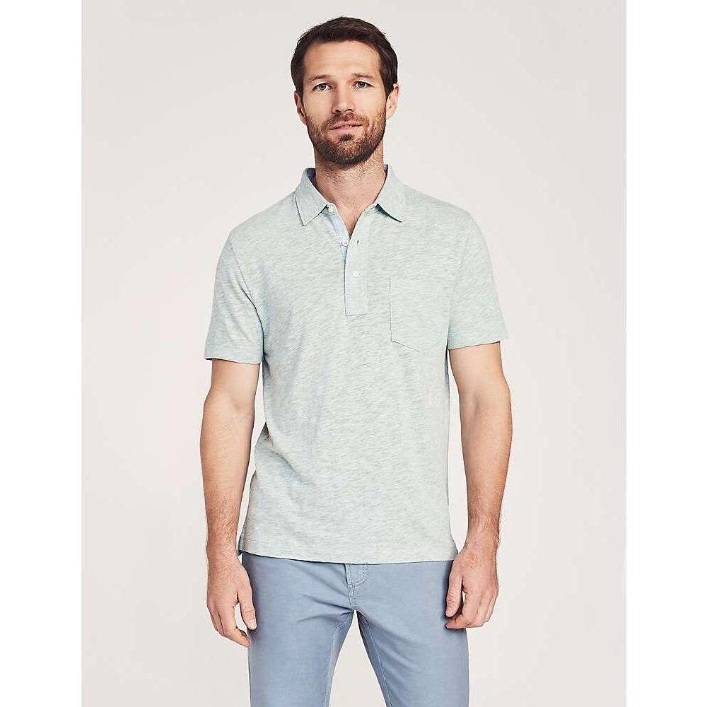 ファレティ メンズ トップス ポロシャツ 新色追加 Pedlow Green SS 直送商品 Polo Faherty サイズ交換無料 Heather