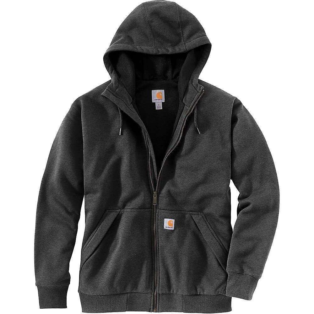 カーハート Carhartt メンズ スウェット・トレーナー トップス【Rain Defender Original Fit Midweight Thermal Lined Full-Zip Hooded Sweatshirt】Carbon Heather