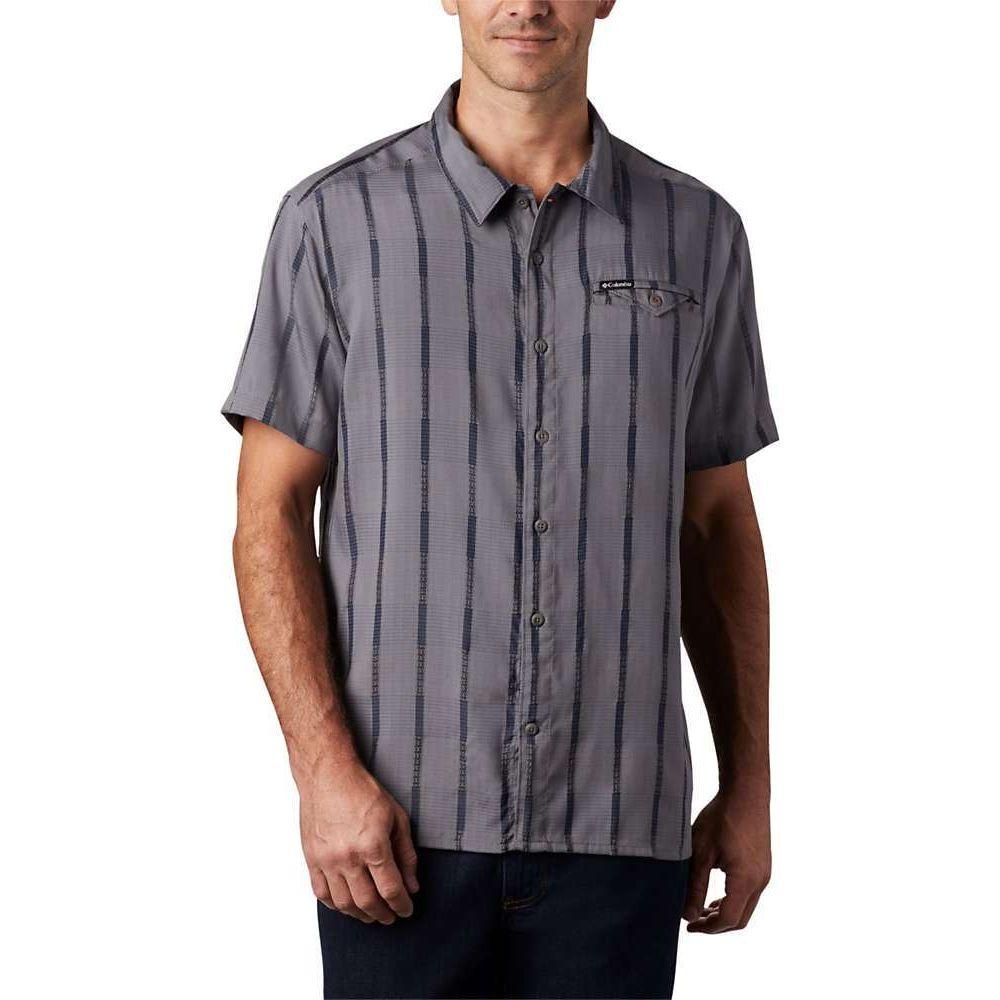 コロンビア Columbia メンズ 半袖シャツ トップス【Lakeside Trail SS Shirt】City Grey