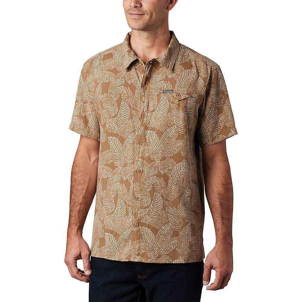 コロンビア Columbia メンズ 半袖シャツ トップス【Lakeside Trail SS Shirt】Delta Rad Palms Print