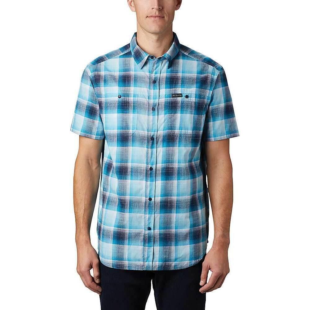 コロンビア Columbia メンズ 半袖シャツ トップス【Leadville Ridge II SS Shirt】Clear Water Ombre Plaid