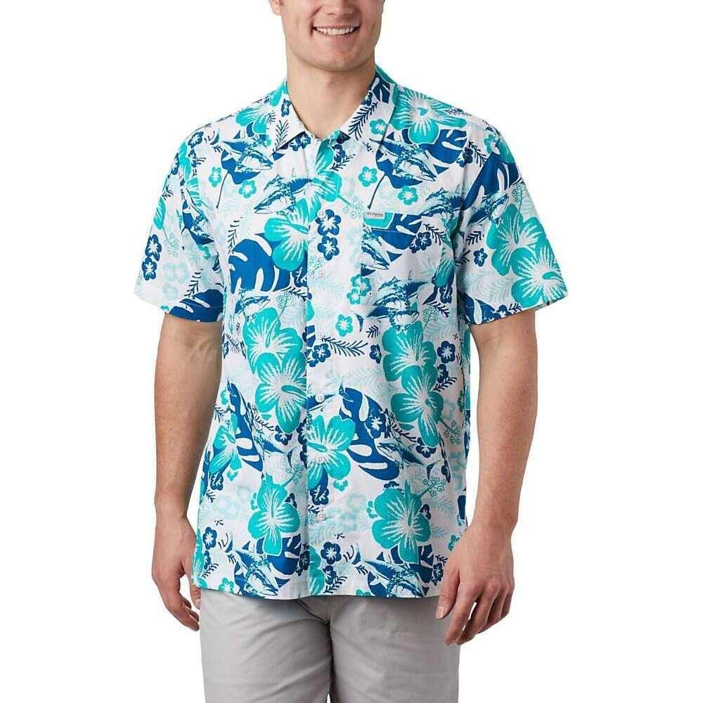 コロンビア Columbia メンズ 半袖シャツ トップス【Trollers Best SS Shirt】Dark Pool Katuna Vibes Print