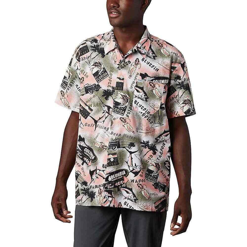 コロンビア Columbia メンズ 半袖シャツ トップス【Trollers Best SS Shirt】Sorbet Archive Print