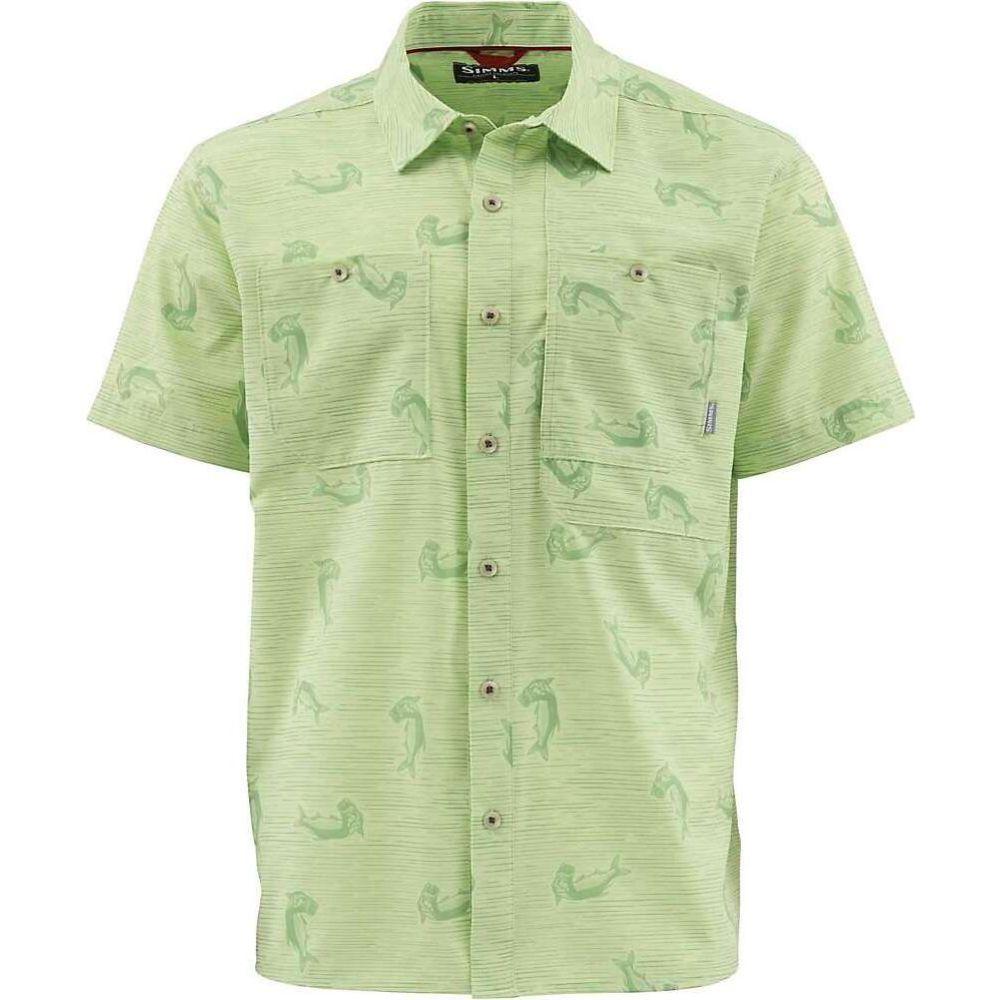 シムス Simms メンズ 半袖シャツ トップス【Double Haul SS Shirt】Tarpon Time Key Lime