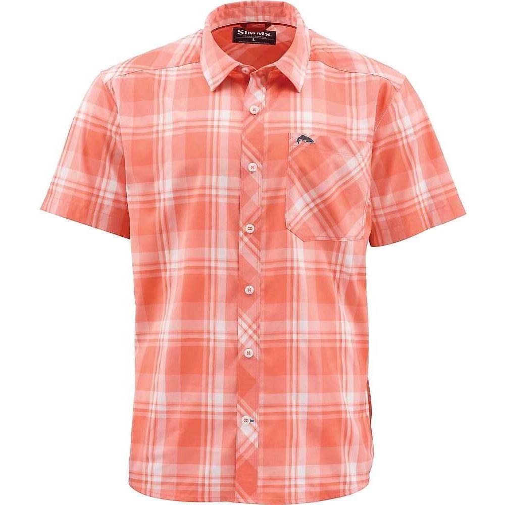 シムス Simms メンズ 半袖シャツ トップス【Outpost SS Shirt】Sunrise Plaid