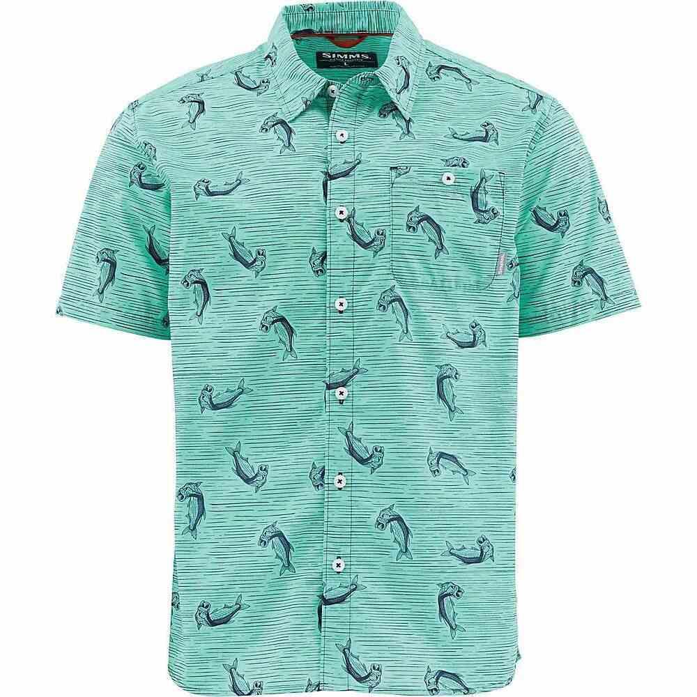 シムス Simms メンズ 半袖シャツ トップス【Tailout SS Shirt】Tarpon Time Aruba