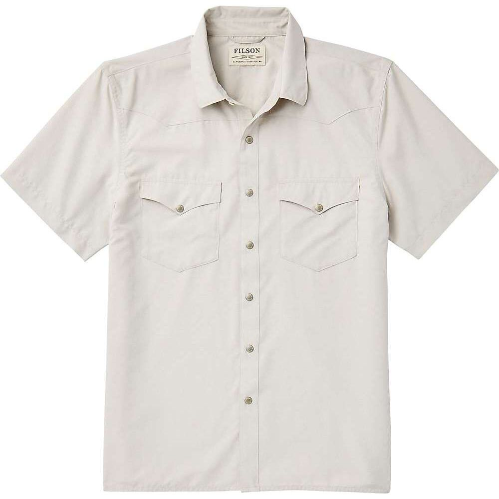 フィルソン Filson メンズ 半袖シャツ トップス【Snap Front SS Shirt】Sand Stone