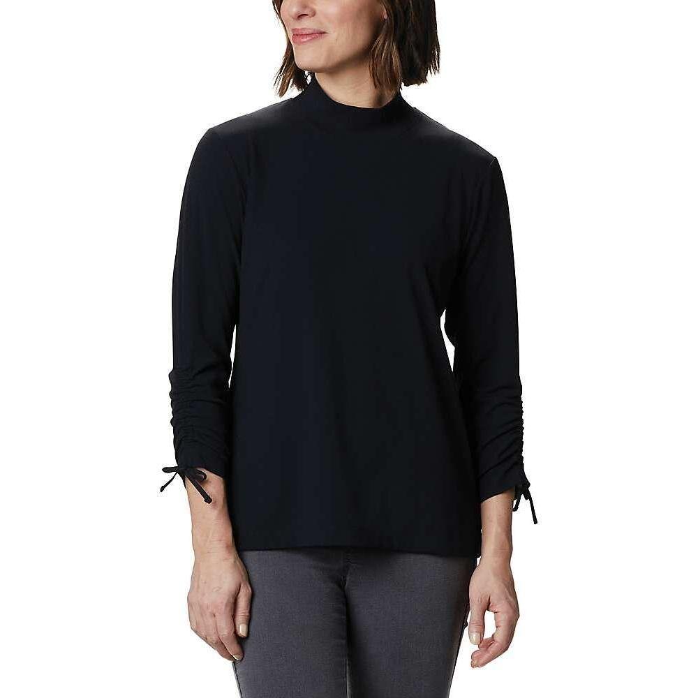 コロンビア Columbia レディース ニット・セーター 七分袖 トップス【Firwood Ribbed Knit 3/4 Sleeve Knit Top】Black