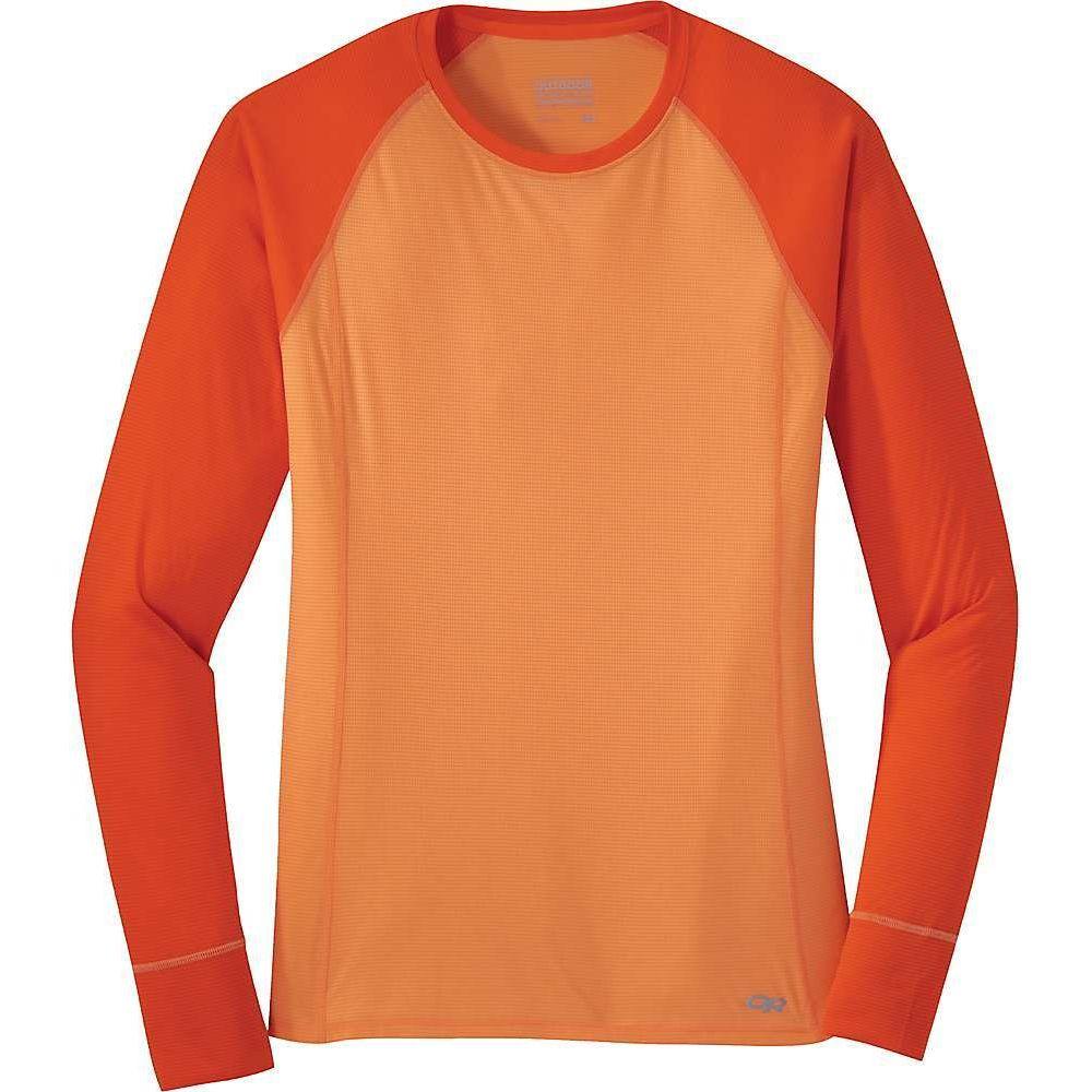 アウトドアリサーチ Outdoor Research レディース 長袖Tシャツ トップス【Echo LS Tee】Cantaloupe/Lava