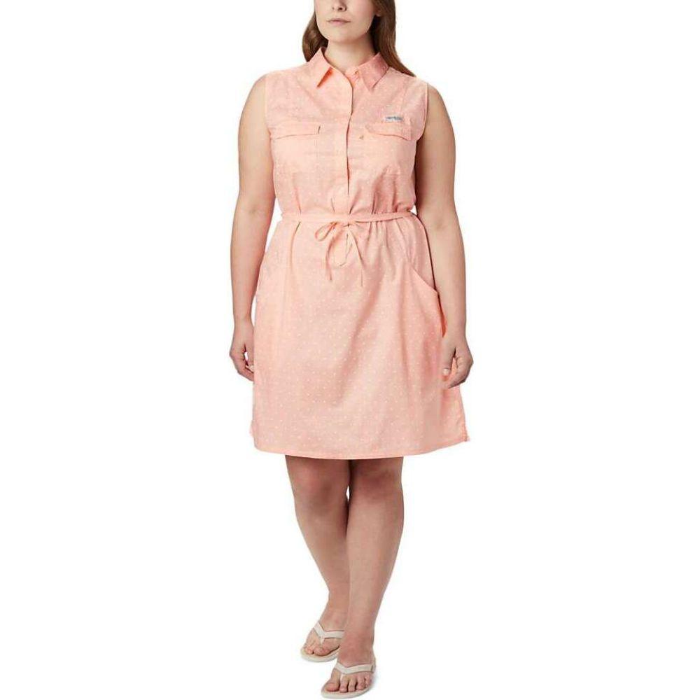 コロンビア Columbia レディース ワンピース ノースリーブ ワンピース・ドレス【Bonehead Stretch Sleeveless Dress】Tiki Pink Swiss Dot