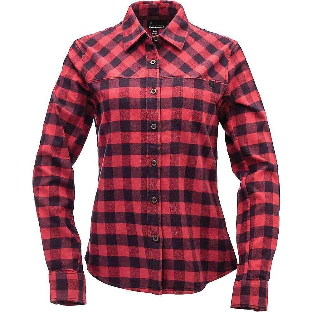 ブラックダイヤモンド Black Diamond レディース ブラウス・シャツ フランネルシャツ トップス【Spotter LS Flannel Shirt】Ink Blue/Wild Rose Plaid