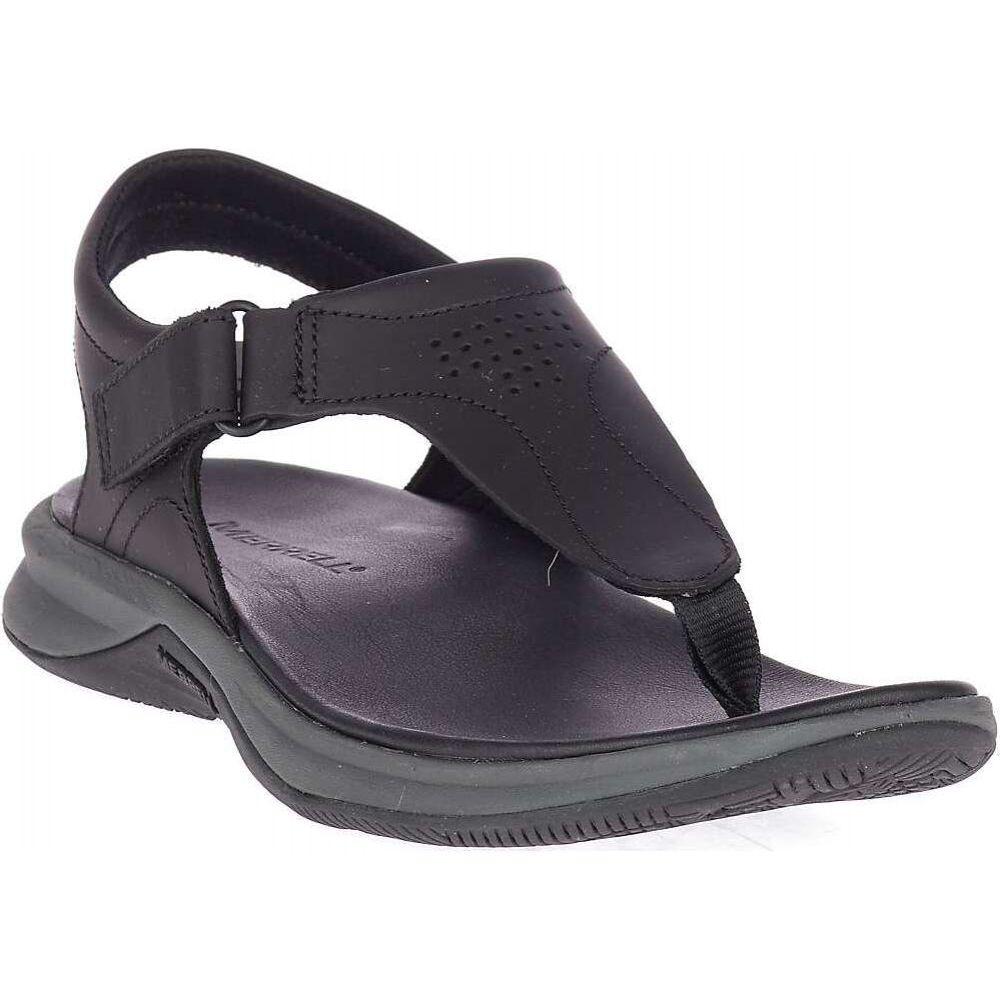 メレル Merrell レディース サンダル・ミュール シューズ・靴【Tideriser Luna T-Strap Leather Sandal】Black