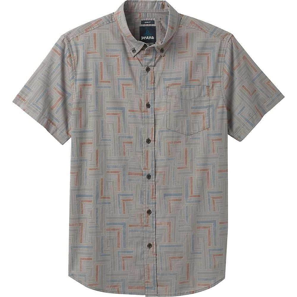 プラーナ Prana メンズ 半袖シャツ トップス【Broderick Shirt - Slim】Gravel Tile