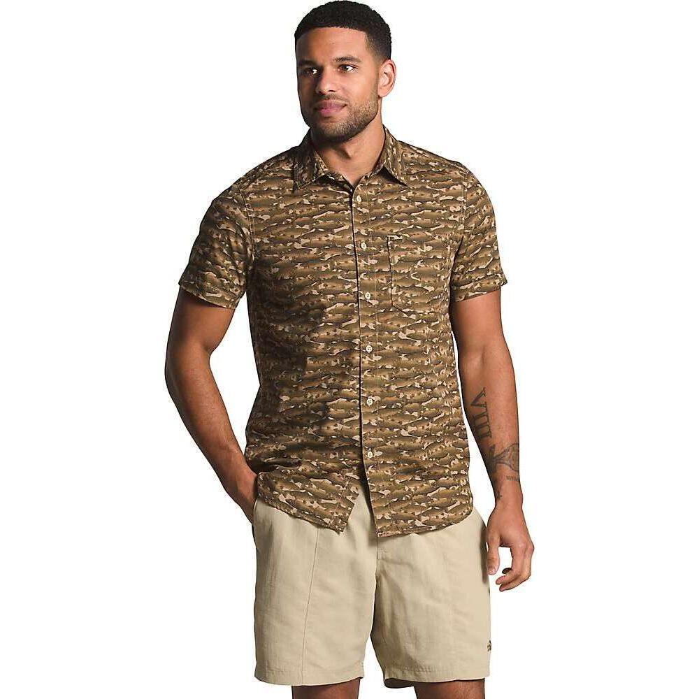 ザ ノースフェイス The North Face メンズ 半袖シャツ トップス【Baytrail Pattern SS Shirt】Kelp Tan Trouts Print