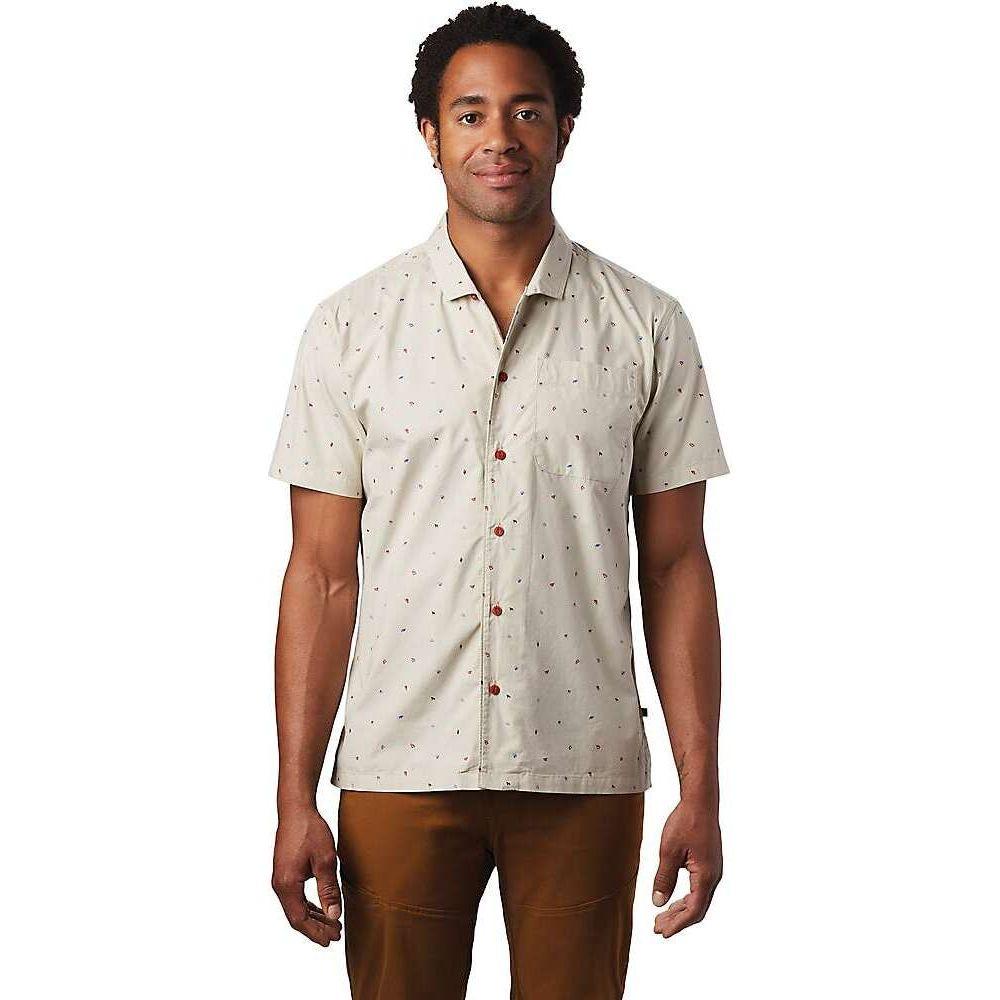 マウンテンハードウェア Mountain Hardwear メンズ 半袖シャツ トップス【Hand/Hold Printed SS Shirt】Lightlands Cam Print