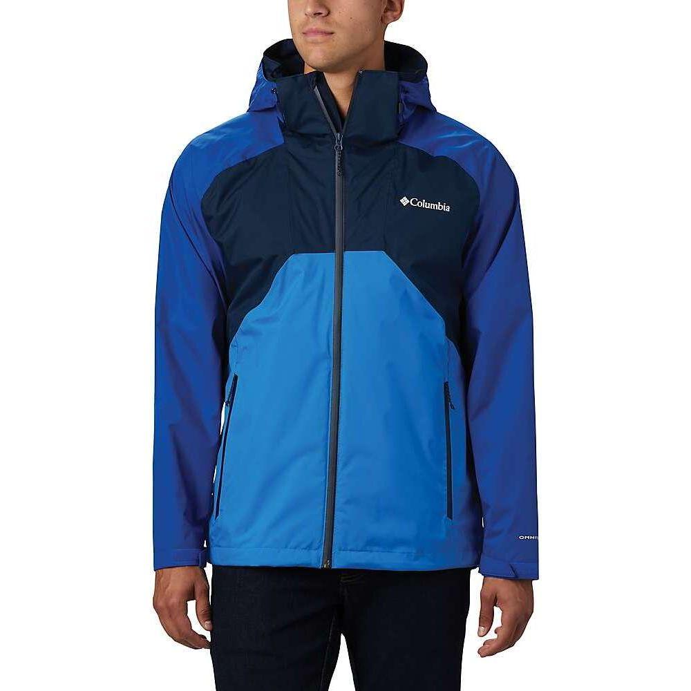 コロンビア Columbia メンズ レインコート アウター【Rain Scape Jacket】Collegiate Navy/Azul/Azure Blue
