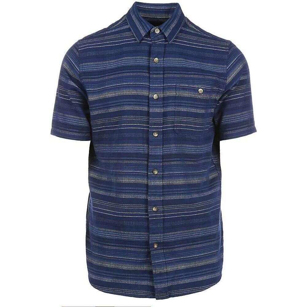 ペンドルトン Pendleton メンズ 半袖シャツ トップス【Kay Street SS Fitted Stripe Shirt】Blue Indigo/Tan Stripe