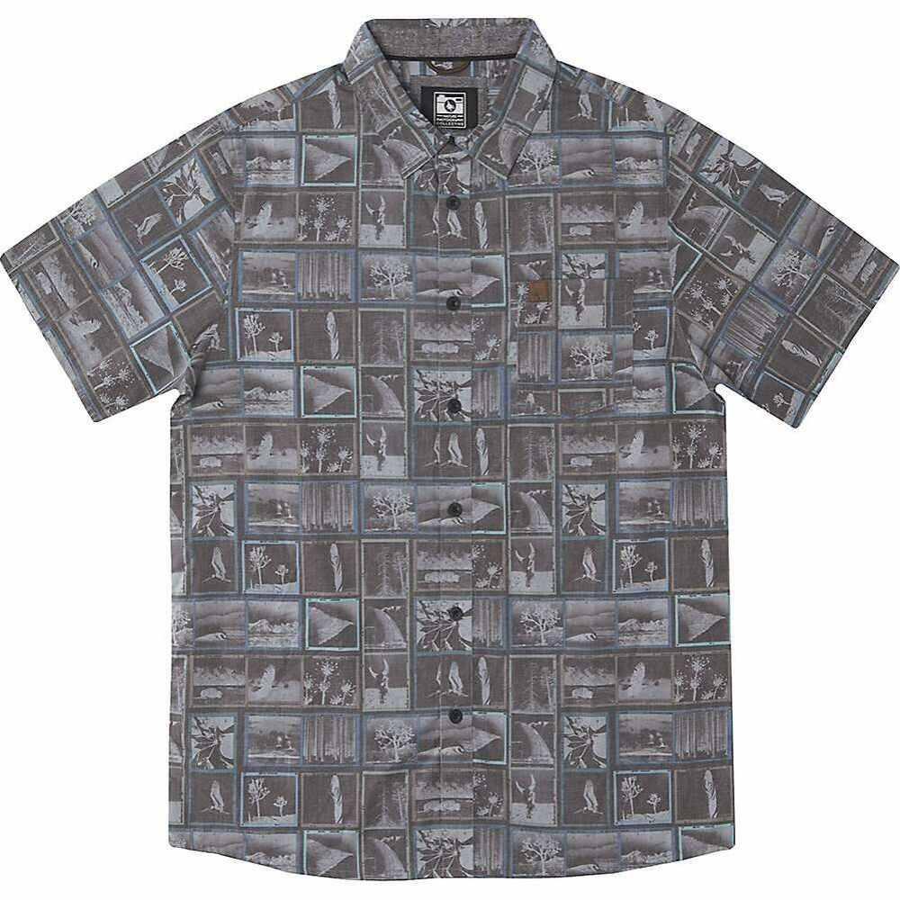 ヒッピーツリー HippyTree メンズ 半袖シャツ トップス【Contact Woven Shirt】Asphalt