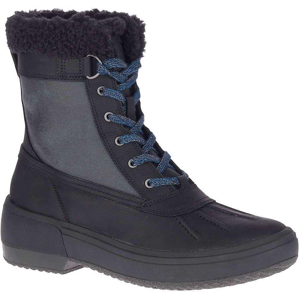 メレル Merrell レディース ブーツ シューズ・靴【Haven Mid Lace Polar Waterproof Boot】Black