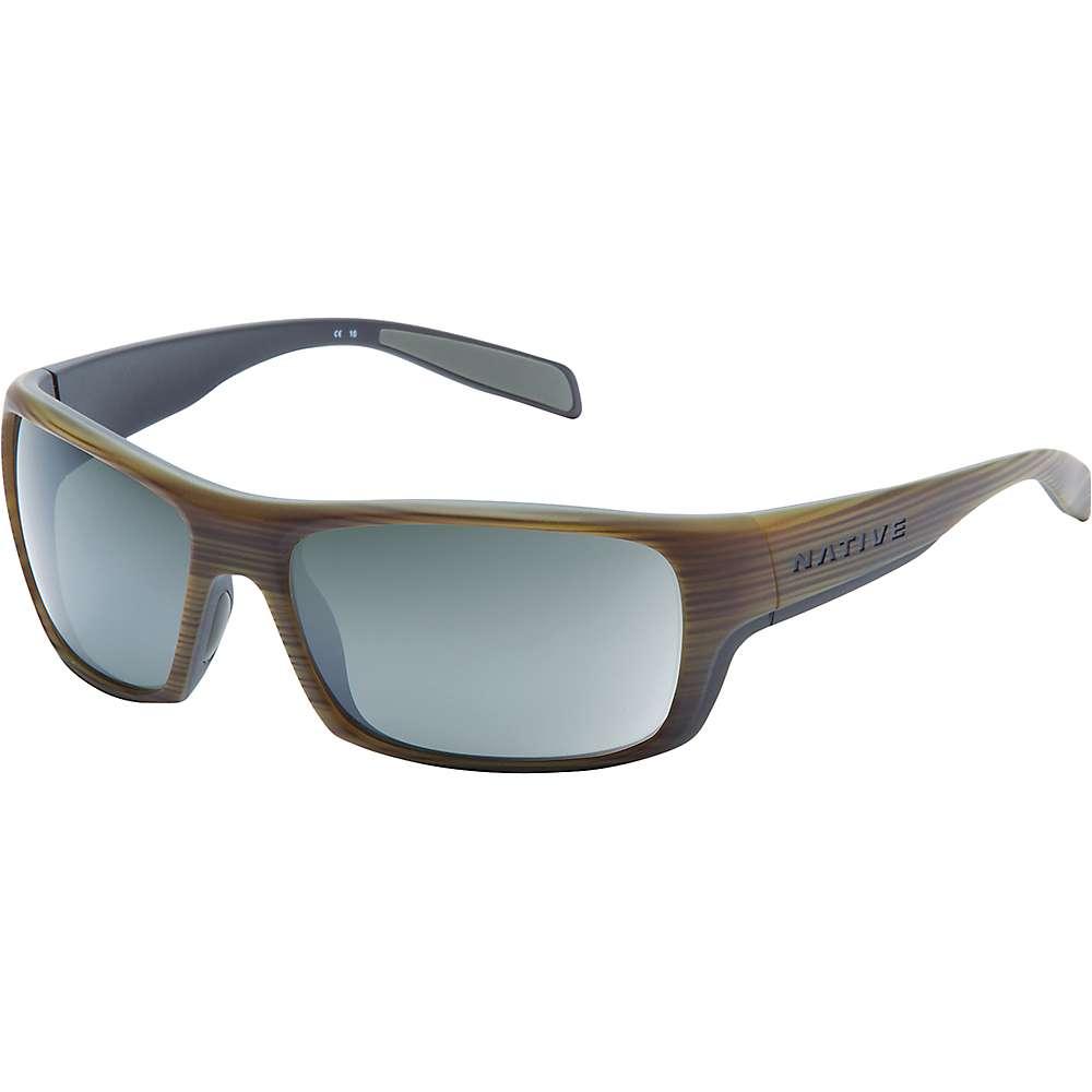 ネイティブ ユニセックス メンズ レディース アクセサリー メガネ・サングラス【Native Eddyline Polarized Sunglasses】Wood / Matte Black / Silver Reflex Polarized