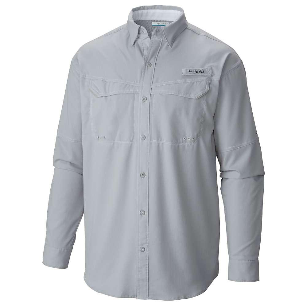 コロンビア メンズ トップス 長袖シャツ【Columbia Low Drag Offshore LS Shirt】Cool Grey / White