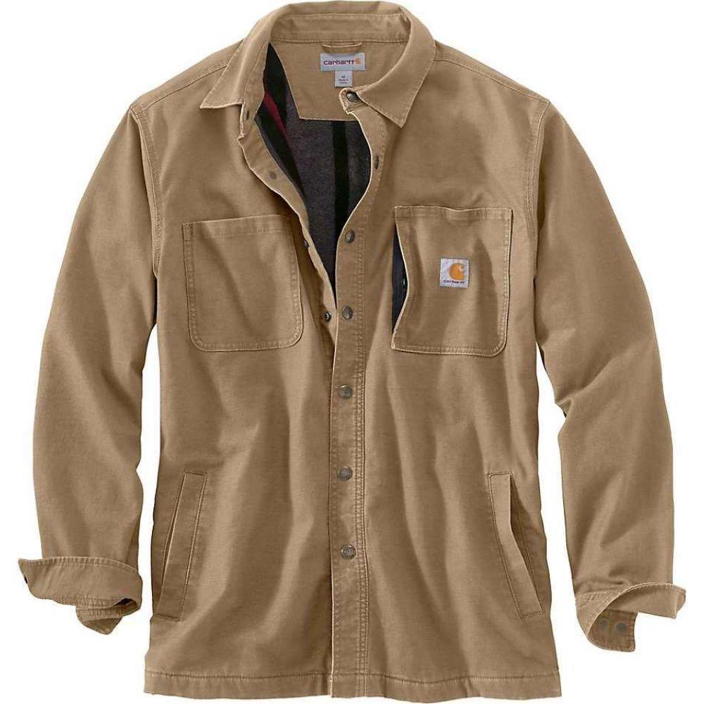 Jacket】Dark シャツジャケット Khaki アウター【Rugged Shirt Flex カーハート メンズ ジャケット Rigby Carhartt