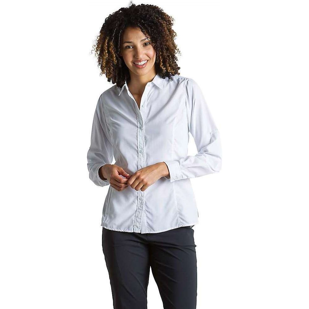 ビッグ割引 エクスオフィシオ ExOfficio レディース ブラウス・シャツ トップス【BugsAway Brisa LS Shirt】White, カワヅチョウ 85b97a70