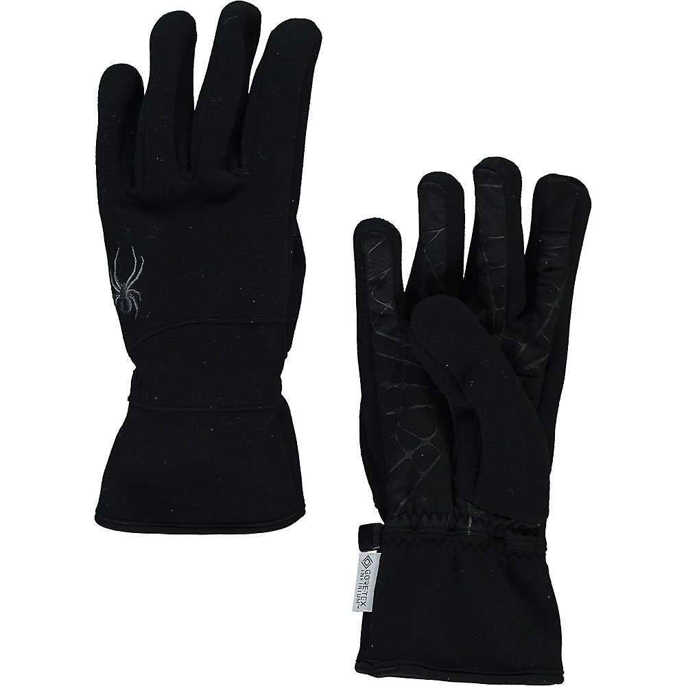 スパイダー メンズ ファッション小物 手袋 贈答品 グローブ Black 人気上昇中 サイズ交換無料 Infinium Spyder Fleece Wander