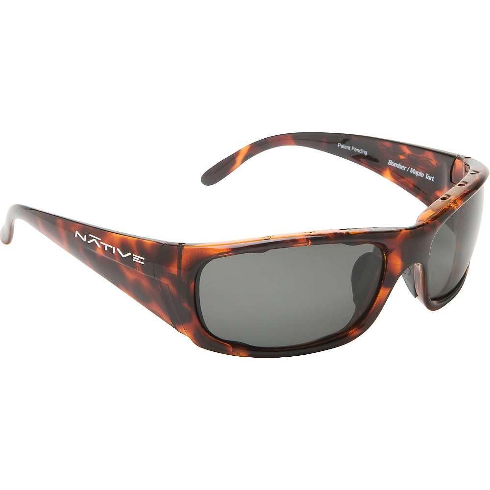 ネイティブ メンズ ファッション小物 メガネ・サングラス【Native Bomber Polarized Sunglasses】Maple Tort / Blue Reflex Polarized