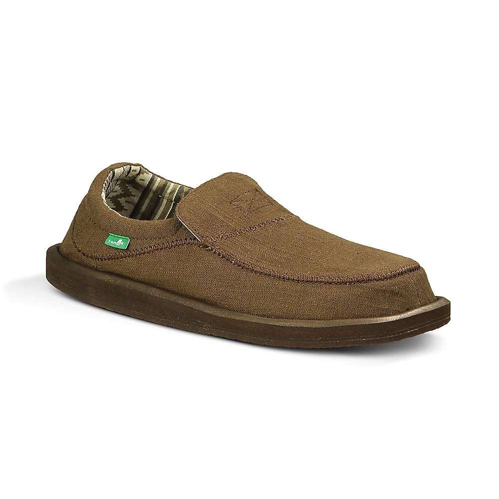 サヌーク メンズ シューズ・靴 スリッポン・フラット【Sanuk Chiba Stitched Shoe】Dark Brown