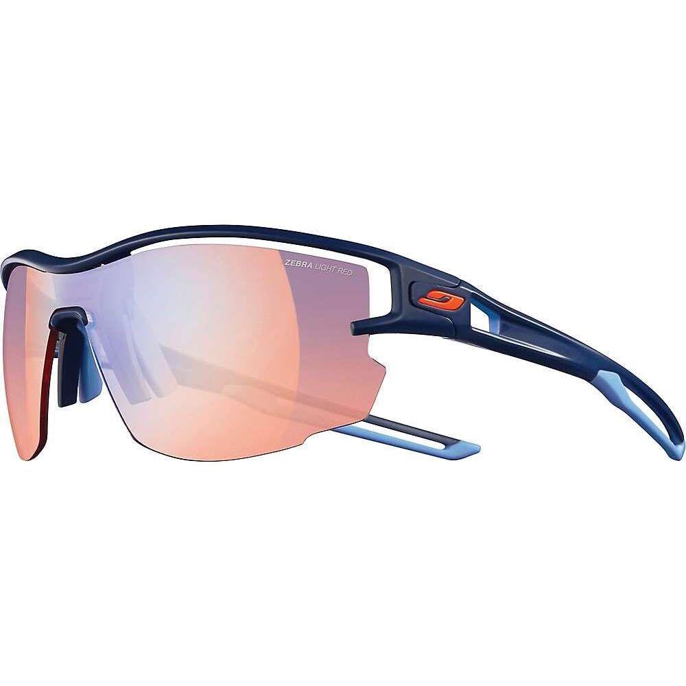 営業 ジュルボ ユニセックス テレビで話題 ファッション小物 スポーツサングラス Dark Blue Zebra Red Julbo サイズ交換無料 Light Aero Sunglasses