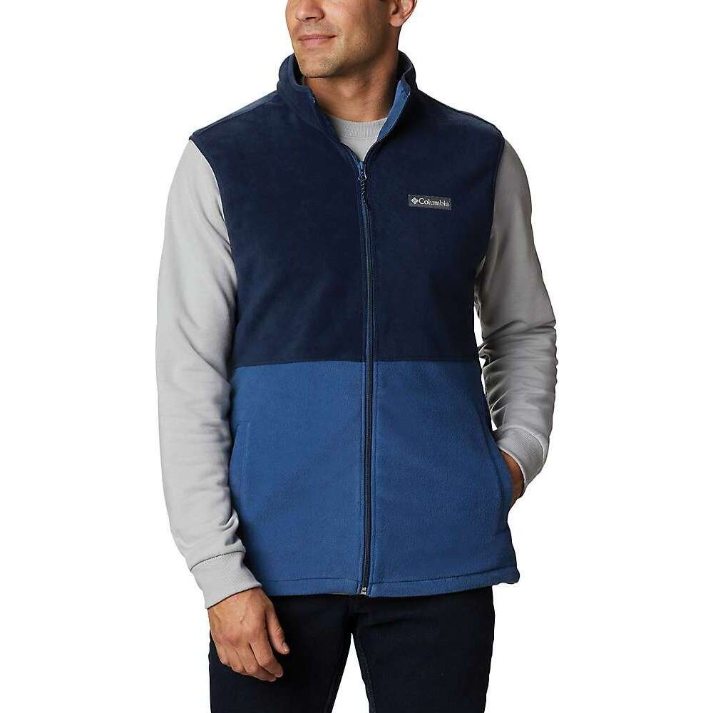 日本製 コロンビア Columbia メンズ ベスト・ジレ トップス【Basin Trail Fleece Vest】Night Tide/Collegiate Navy, タイヤザウルス b824aa5c
