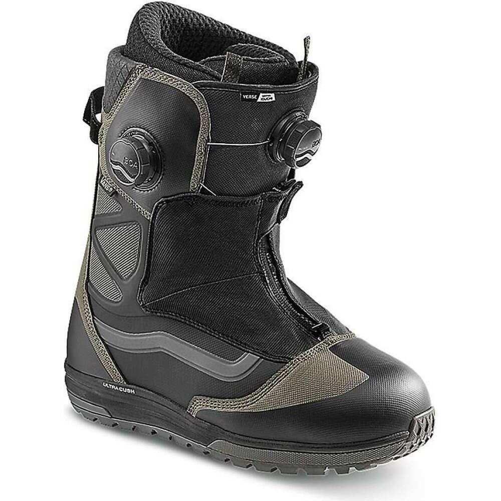 ヴァンズ メンズ スキー スノーボード シューズ 靴 Black Snowboard Vans 送料無料お手入れ要らず ブーツ Verse 高品質新品 Grey Boot サイズ交換無料