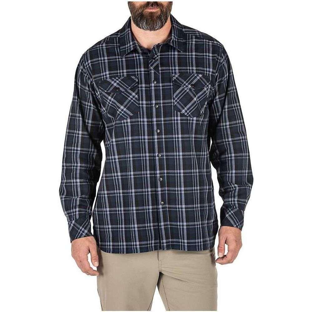 【訳あり】 5.11タクティカル 5.11 メンズ シャツ トップス【Peak LS Shirt】Peacoat Plaid, アクセサリーと雑貨 MILESマイルズ 707b0697