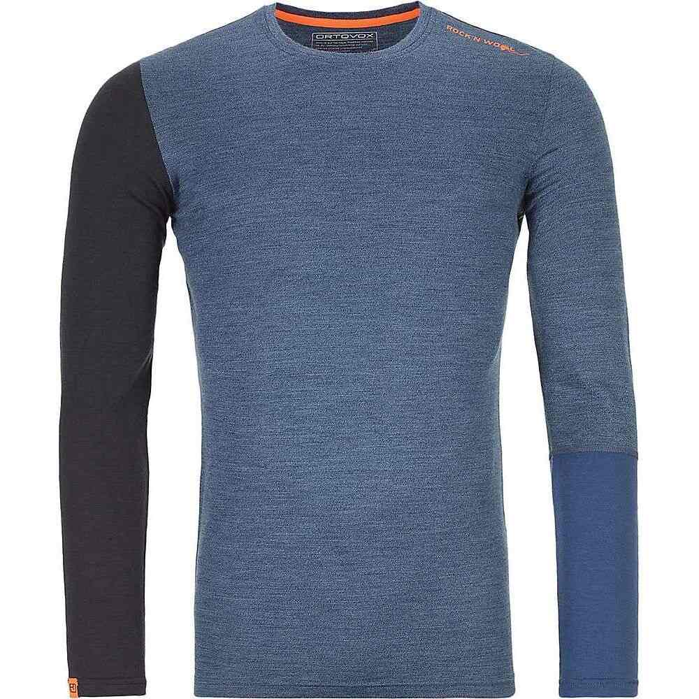 <title>オルトボックス メンズ ハイキング 登山 トップス Night Blue Blend 即出荷 サイズ交換無料 Ortovox シャツ 185 Rock'N'Wool LS Shirt</title>