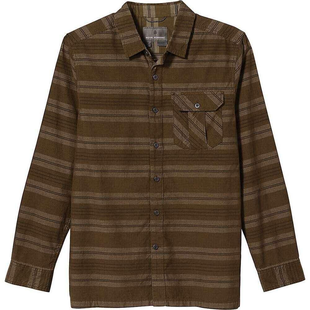 ロイヤルロビンズ メンズ トップス Trail Moss サイズ交換無料 Royal LS 数量限定アウトレット最安価格 Covert Stripe Robbins Organic 日本製 Cord Cotton