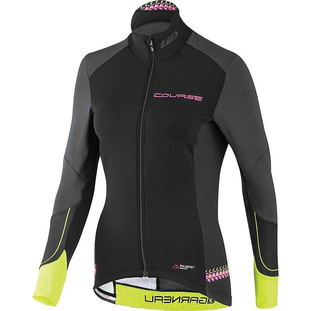 ルイガノ レディース 自転車 トップス 贈答 Black Yellow Pink サイズ交換無料 Wind 未使用 LS Jersey Garneau Course Pro Louis