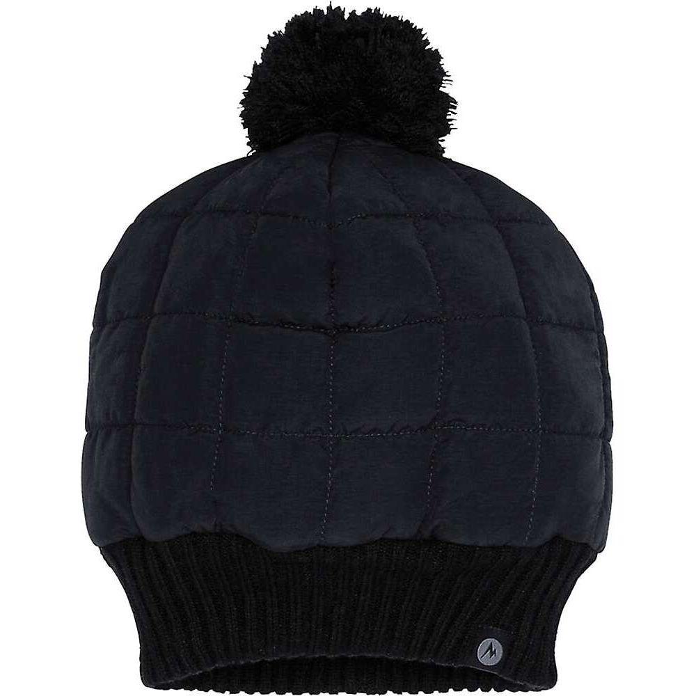 2020高い素材  マーモット Marmot レディース ニット ポンポン ビーニー 帽子【Quilted Pom Beanie】Black, 靴のシューマート 8be27322