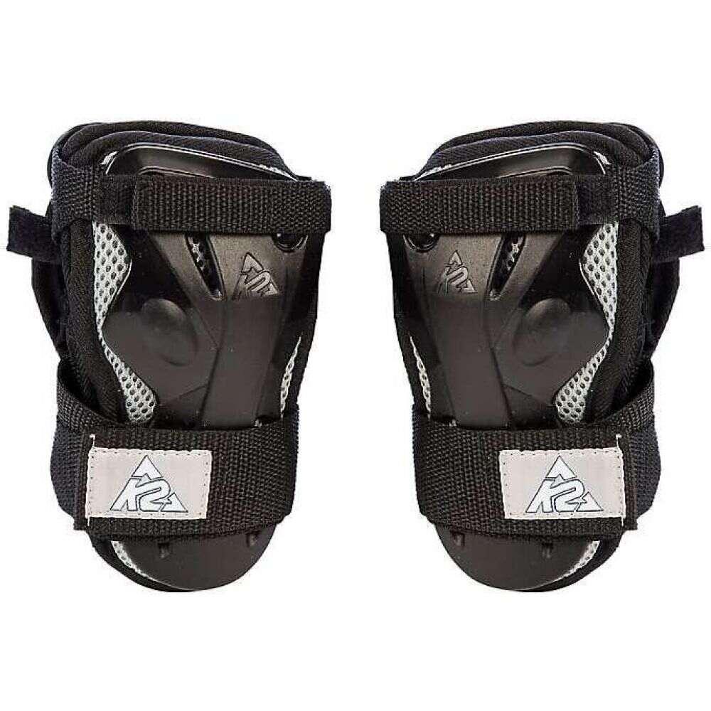 ケーツー メンズ スケートボード プロテクター Black Silver K2 Guard 本日の目玉 秀逸 Moto Wrist サイズ交換無料