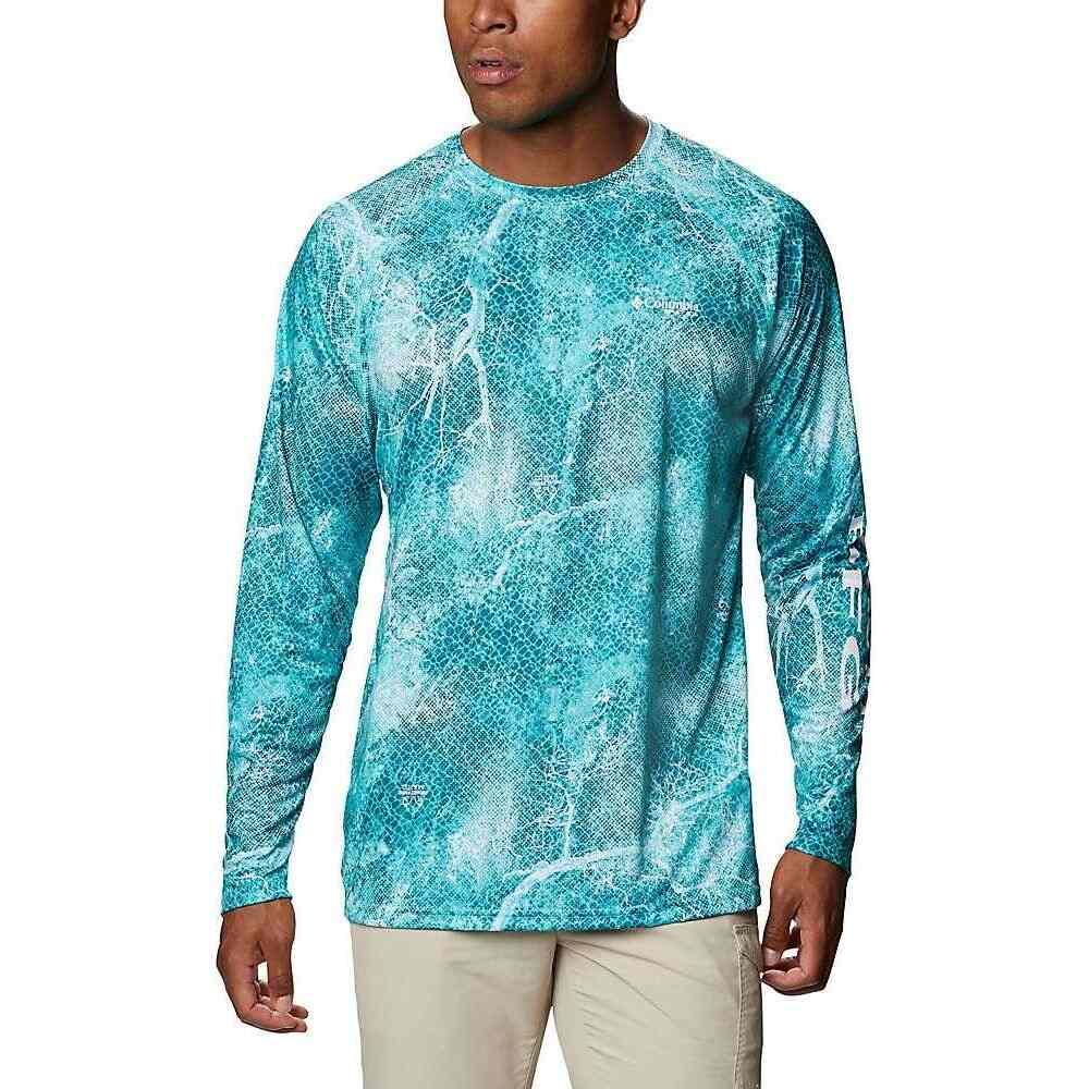 コロンビア メンズ 釣り フィッシング トップス 信託 Dolphin Realtree Mako 流行のアイテム Tackle Shirt サイズ交換無料 Columbia Super Terminal LS