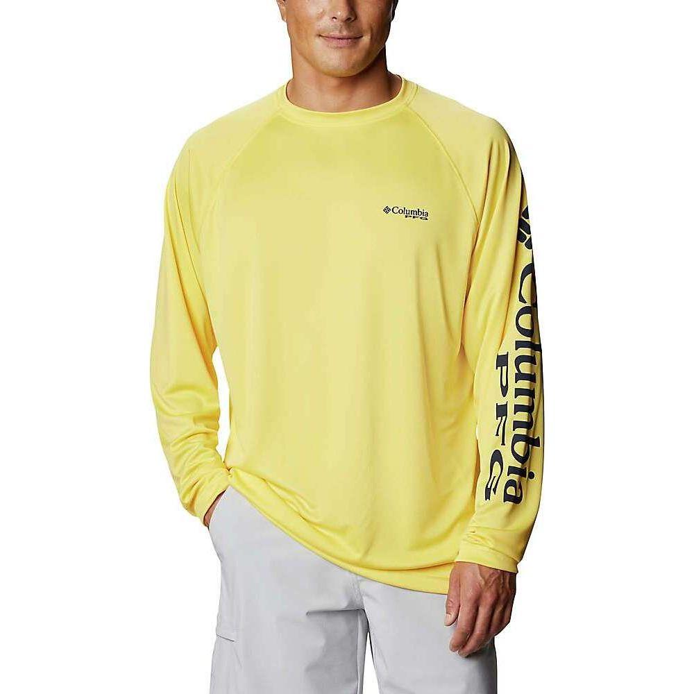 コロンビア 物品 メンズ 釣り フィッシング トップス Sun Glow Collegiate サイズ交換無料 LS 内祝い Columbia Navy Shirt Terminal Tackle Logo