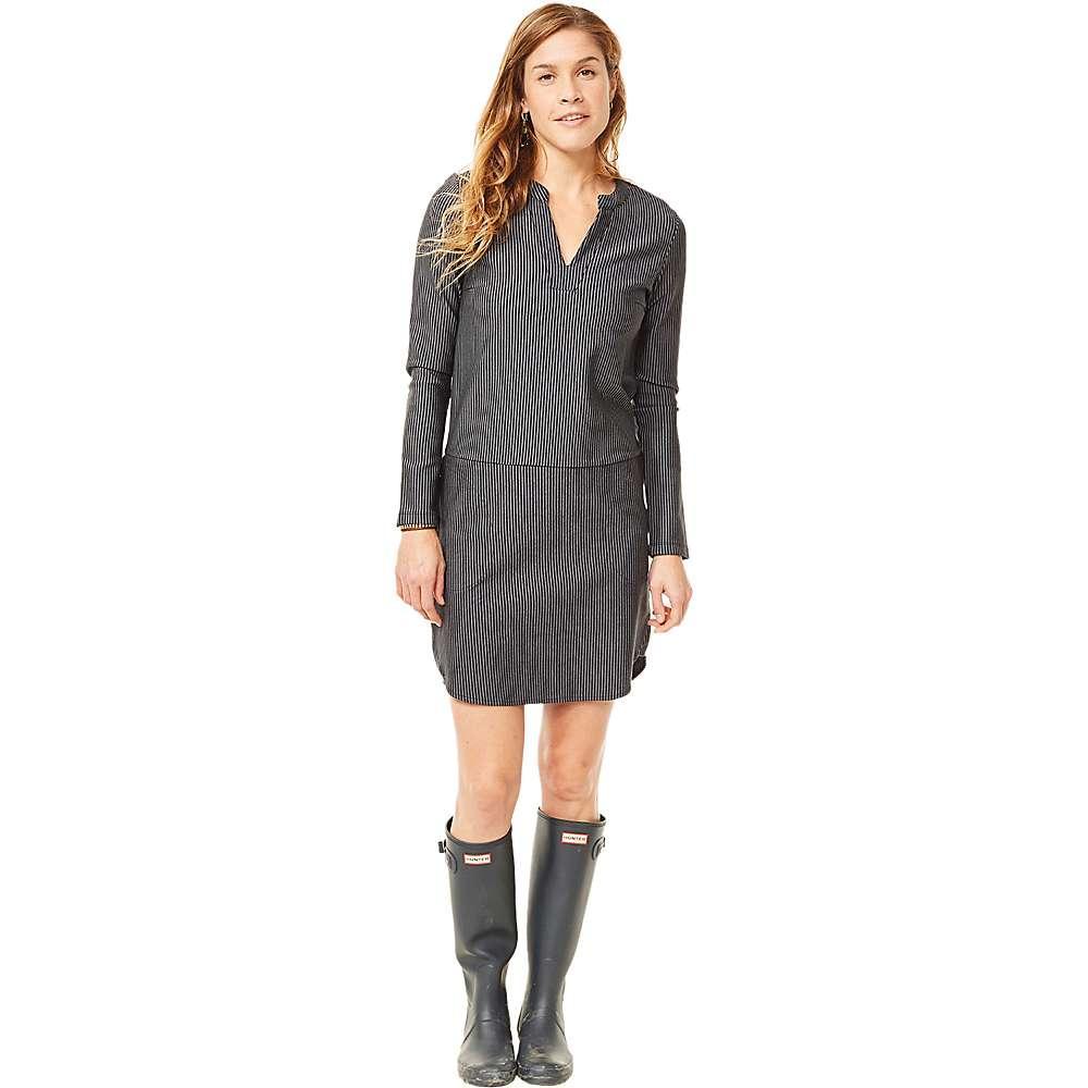 カーヴデザイン レディース ワンピース・ドレス ワンピース【Carve Designs Arapahoe LS Dress】Black Caribbean Stripe